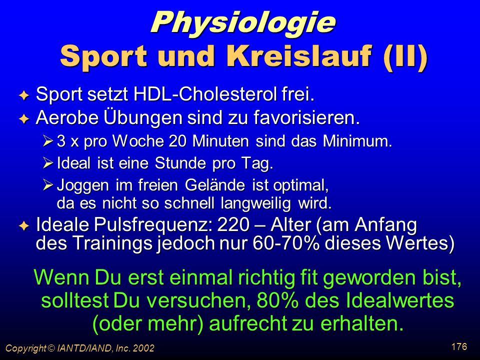 Sport und Kreislauf (II)