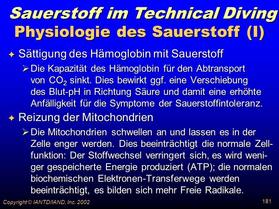 Physiologie des Sauerstoff (I)