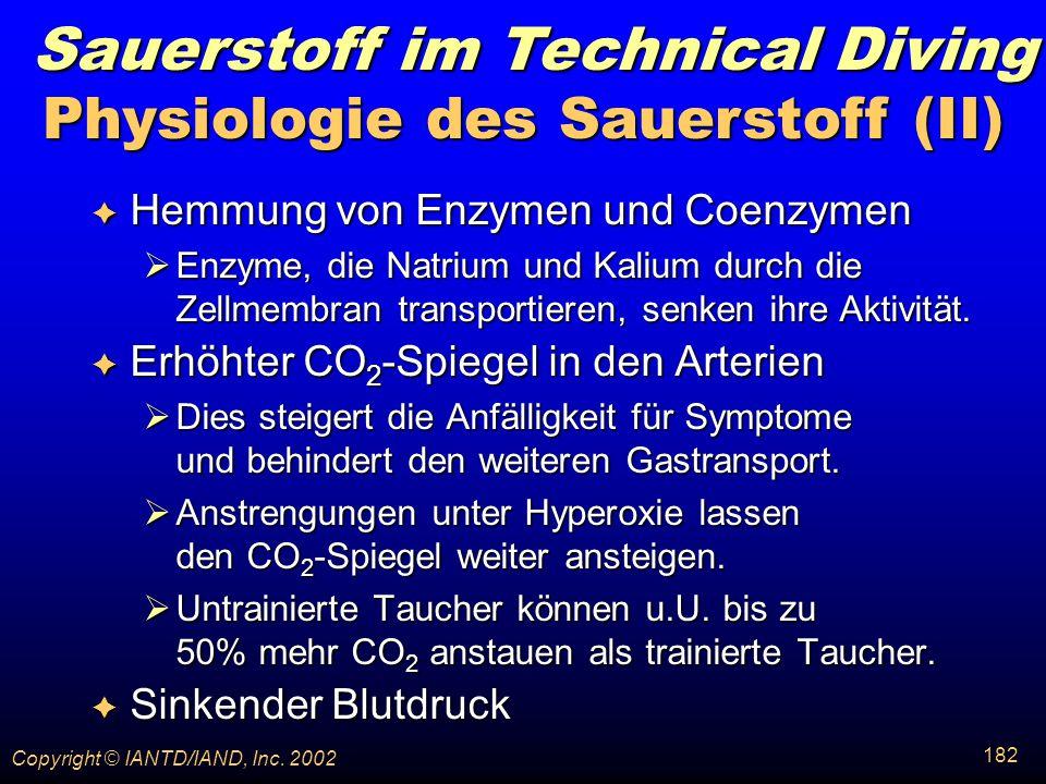 Physiologie des Sauerstoff (II)
