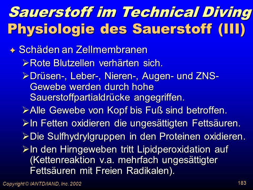 Physiologie des Sauerstoff (III)