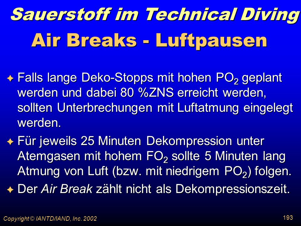 Air Breaks - Luftpausen