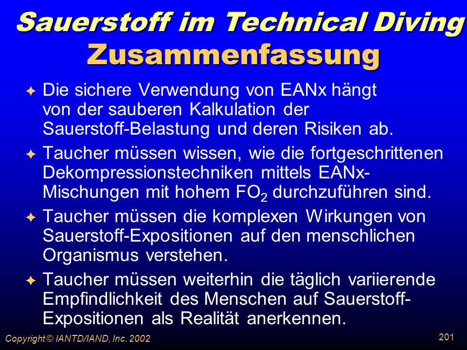 Sauerstoff im Technical Diving