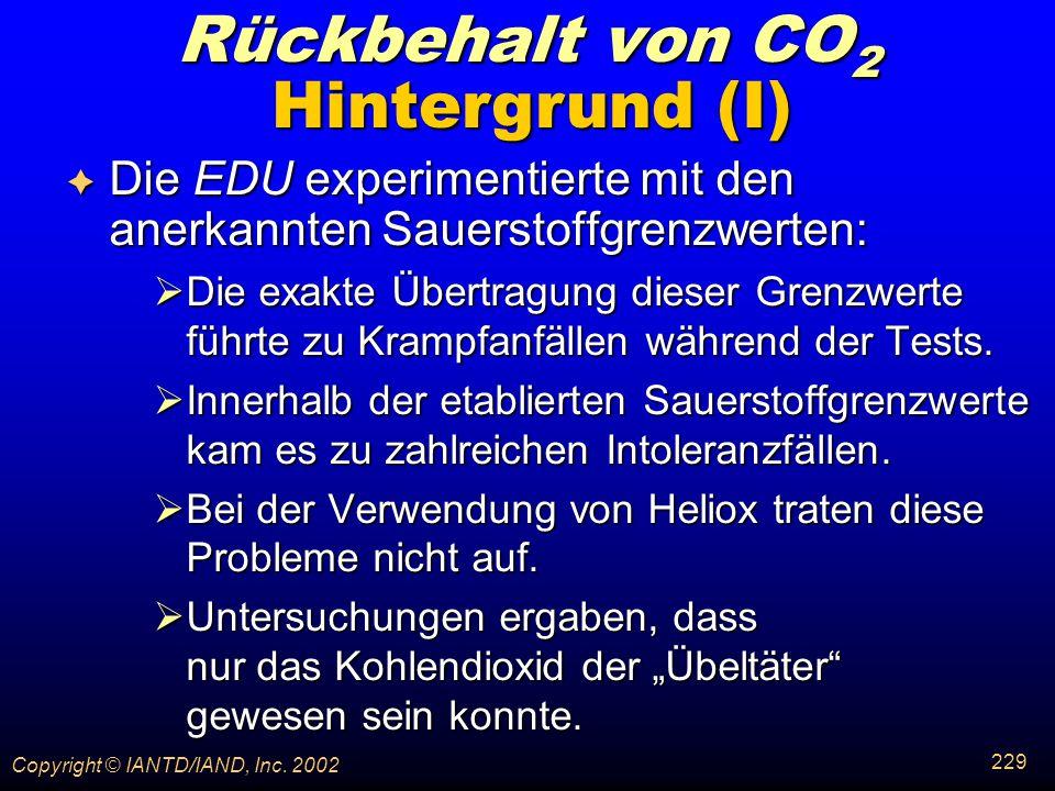 Rückbehalt von CO2 Hintergrund (I)