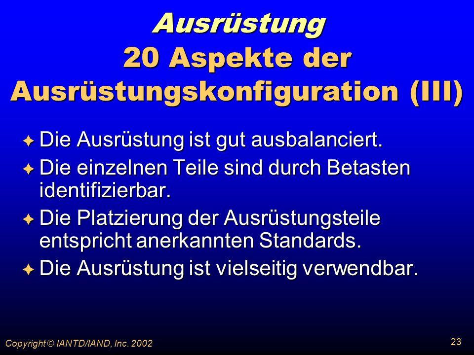 Ausrüstung 20 Aspekte der Ausrüstungskonfiguration (III)