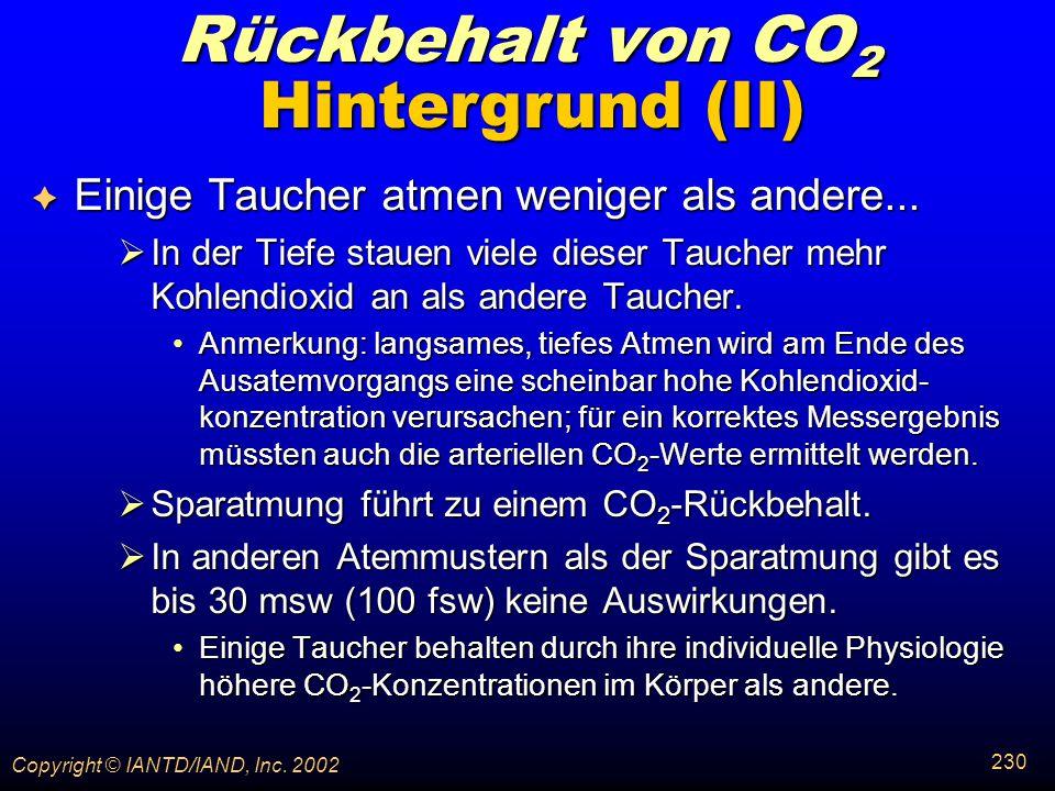 Rückbehalt von CO2 Hintergrund (II)