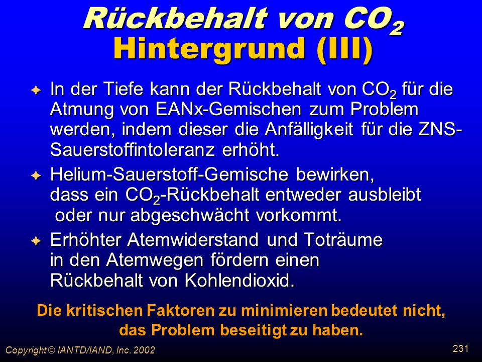 Rückbehalt von CO2 Hintergrund (III)