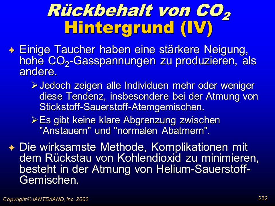 Rückbehalt von CO2 Hintergrund (IV)