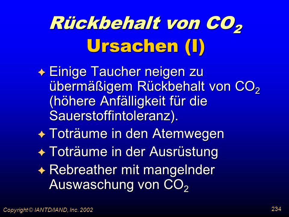 Rückbehalt von CO2 Ursachen (I)