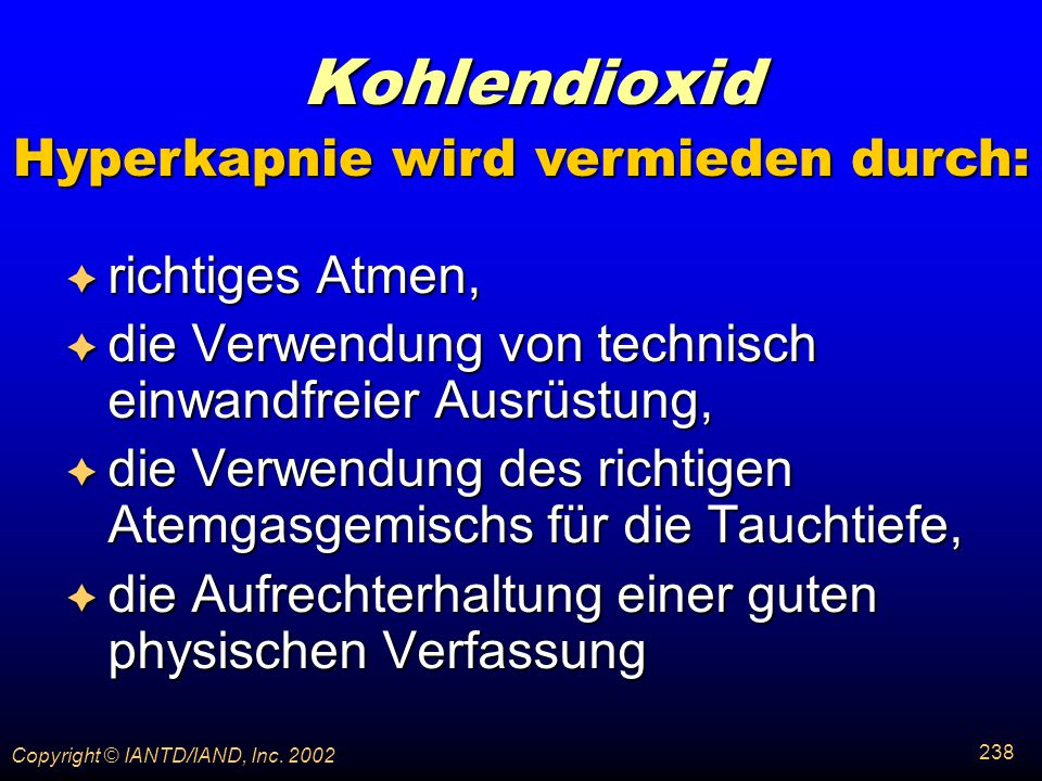 Hyperkapnie wird vermieden durch: