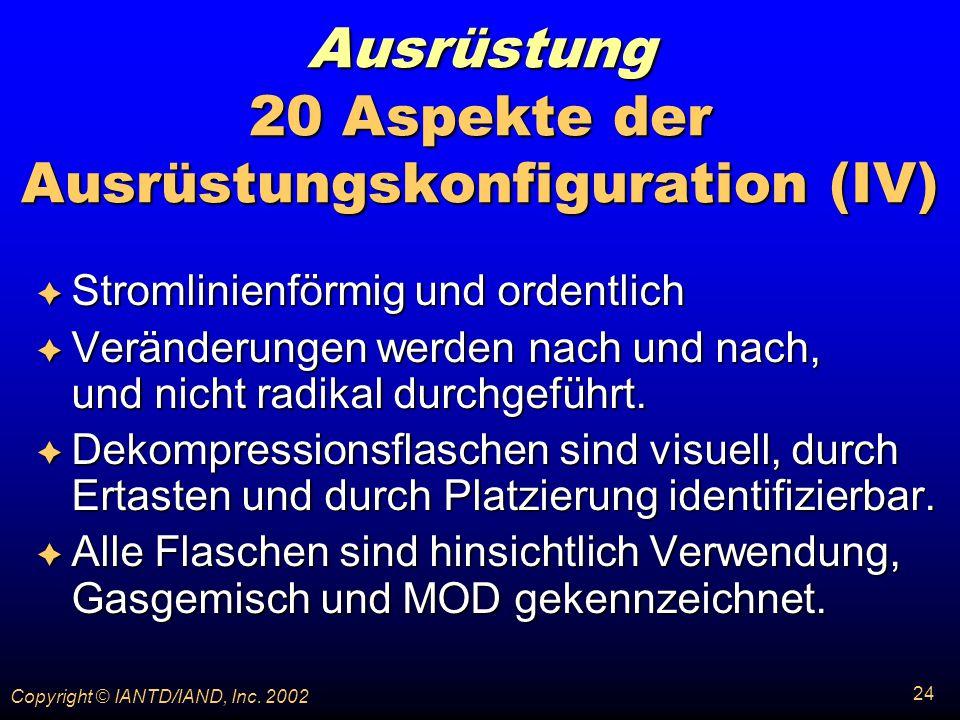 Ausrüstung 20 Aspekte der Ausrüstungskonfiguration (IV)