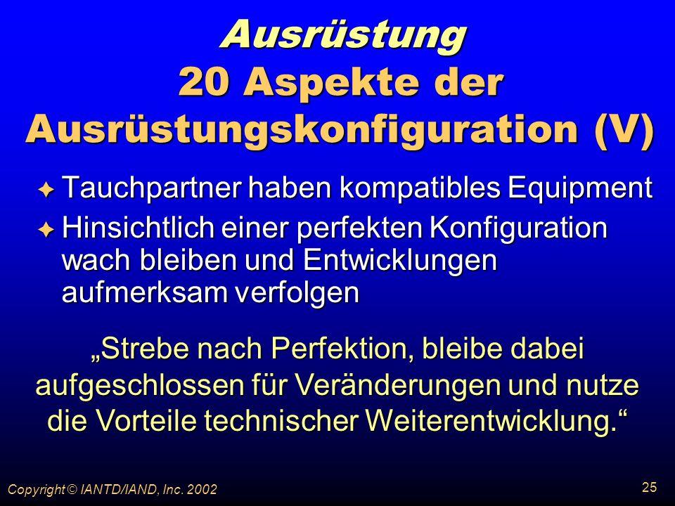 Ausrüstung 20 Aspekte der Ausrüstungskonfiguration (V)