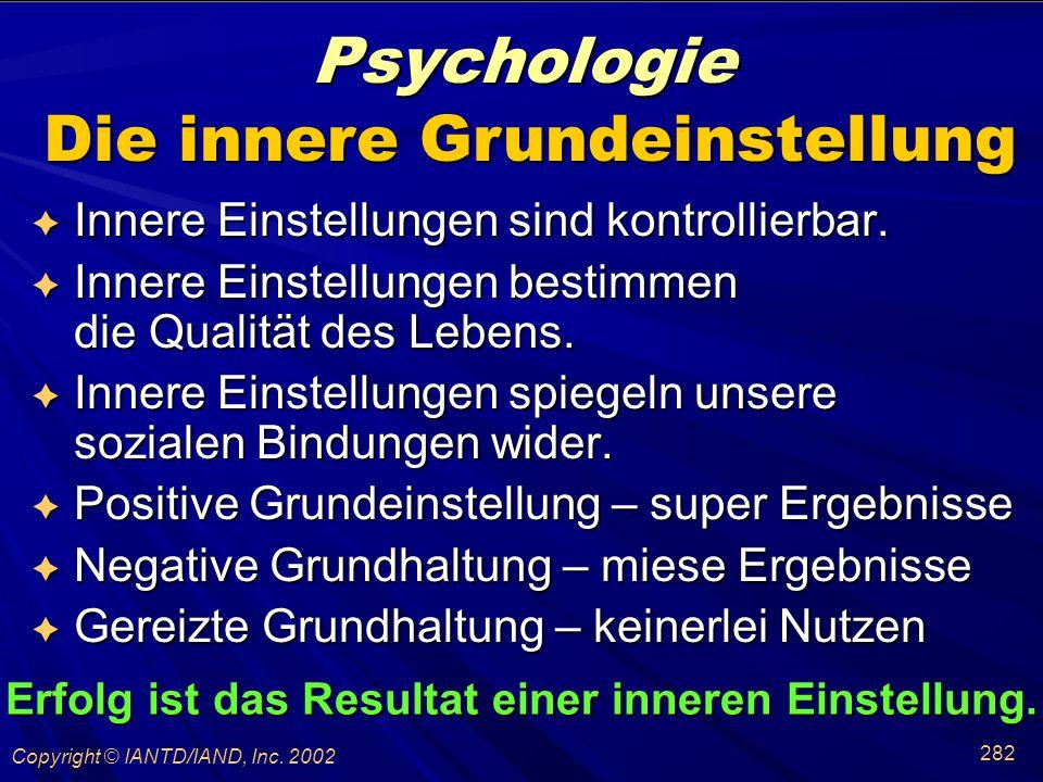 Psychologie Die innere Grundeinstellung