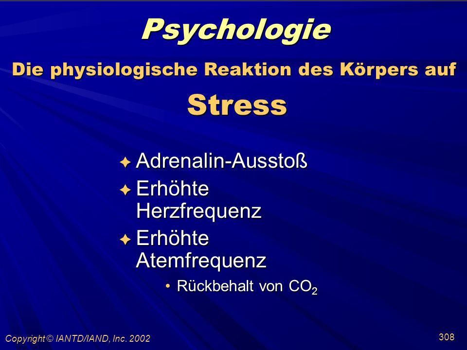 Die physiologische Reaktion des Körpers auf