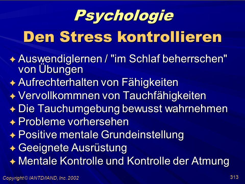 Den Stress kontrollieren