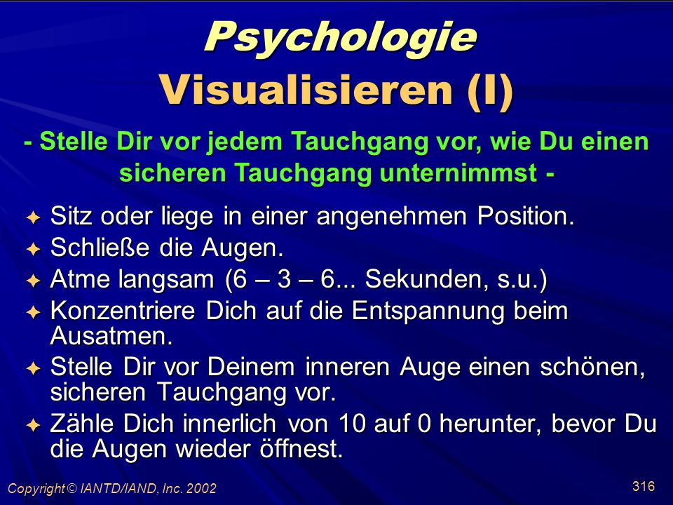 Psychologie Visualisieren (I)