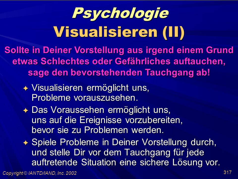 Psychologie Visualisieren (II)