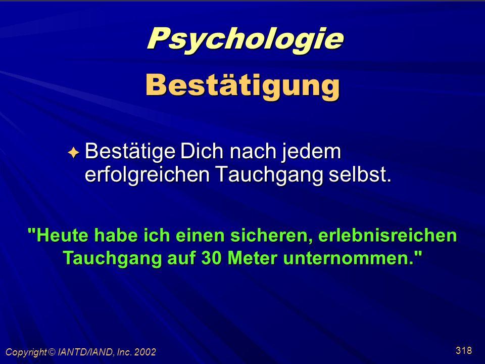 Psychologie Bestätigung