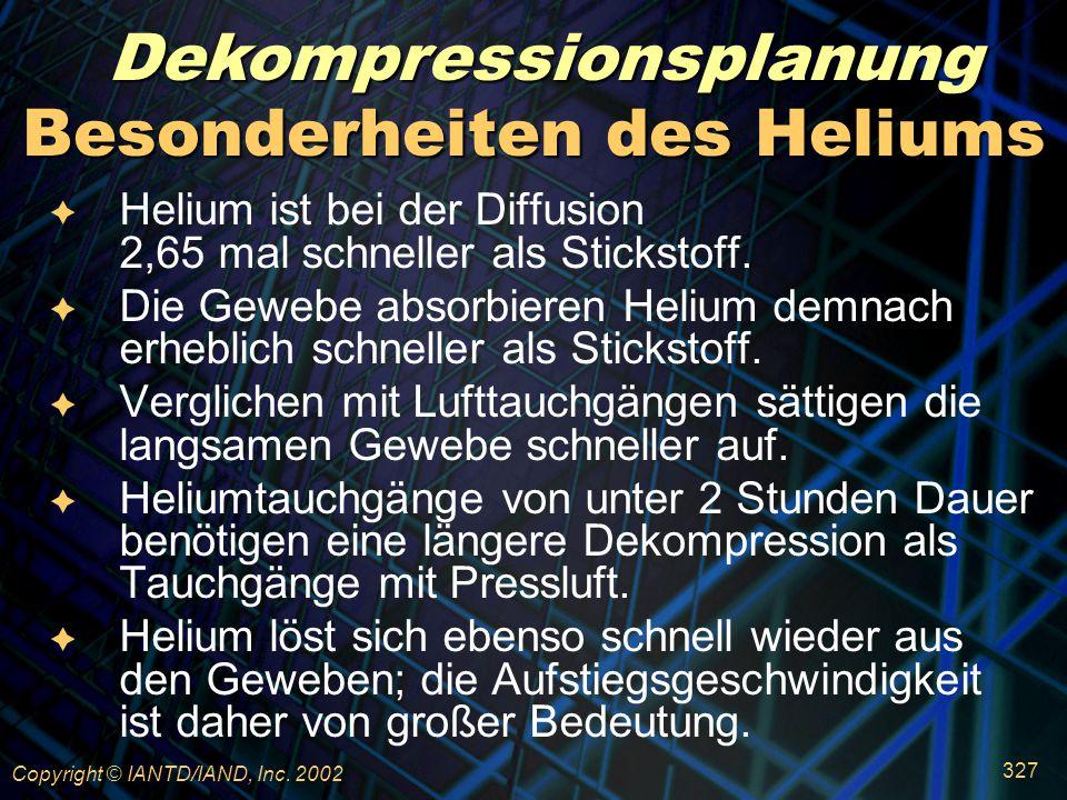 Besonderheiten des Heliums