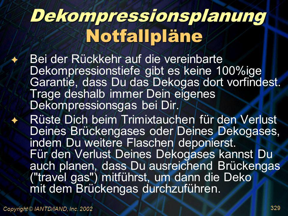 Dekompressionsplanung