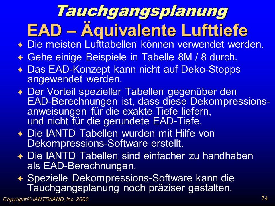 EAD – Äquivalente Lufttiefe