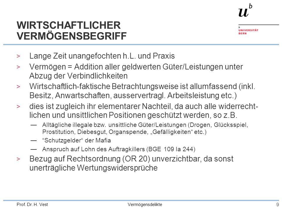WIRTSCHAFTLICHER VERMÖGENSBEGRIFF