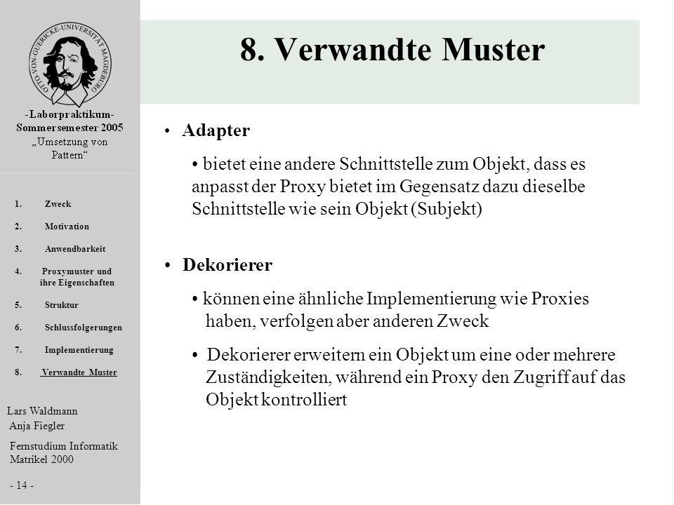 8. Verwandte Muster Adapter.