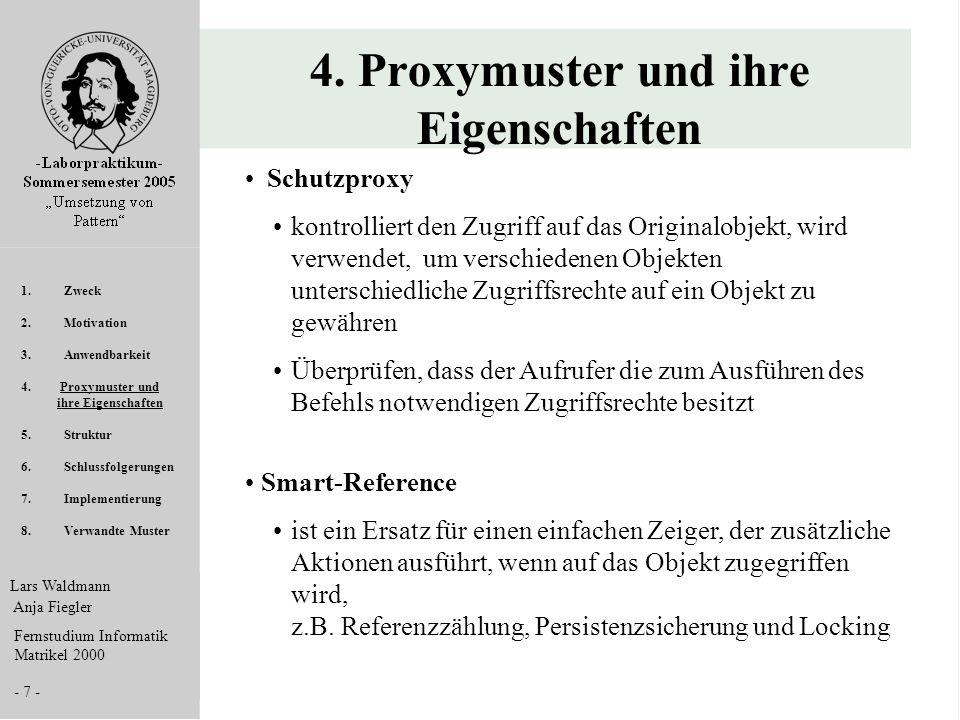 4. Proxymuster und ihre Eigenschaften