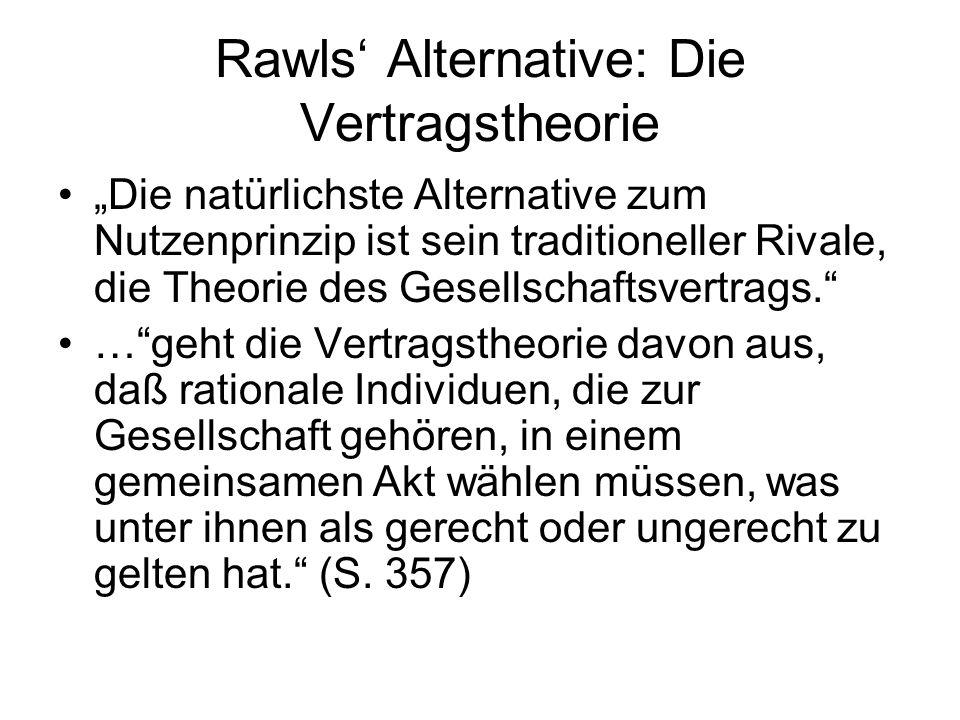Rawls' Alternative: Die Vertragstheorie