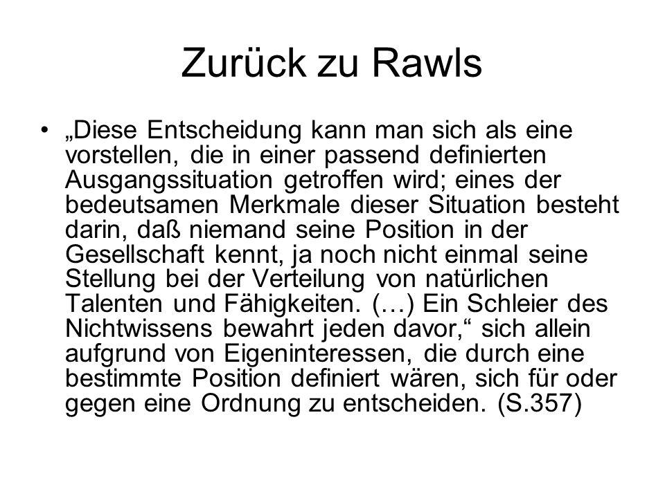 Zurück zu Rawls