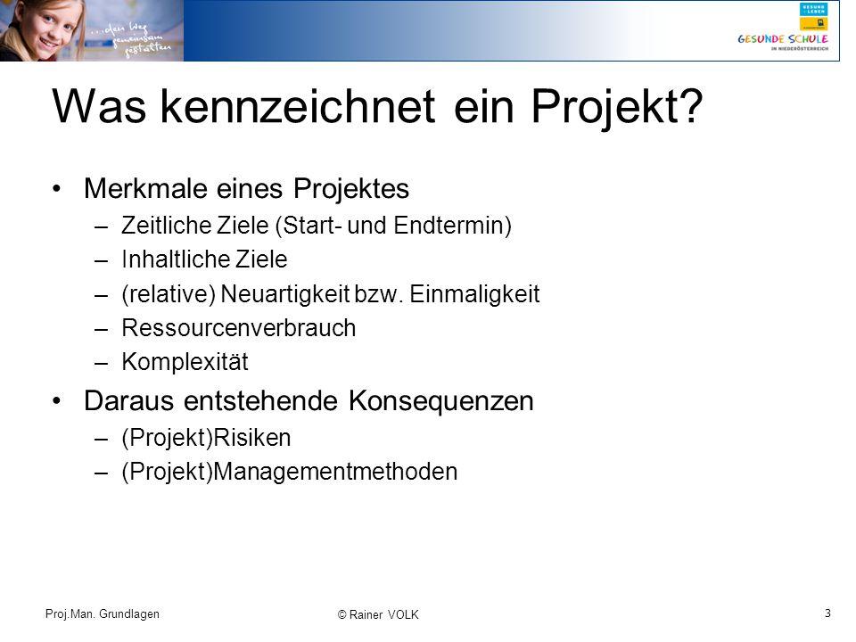 Was kennzeichnet ein Projekt