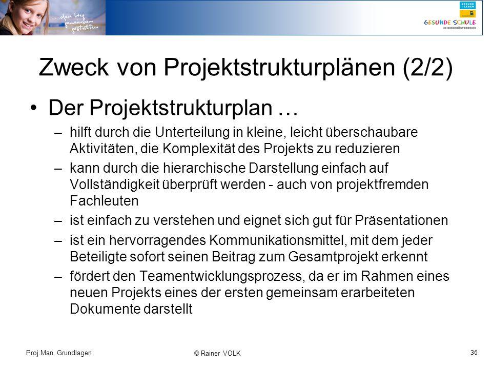 Zweck von Projektstrukturplänen (2/2)
