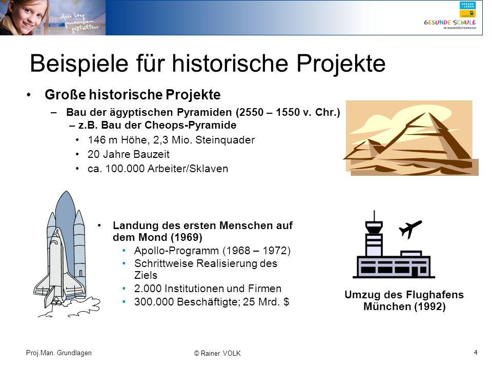 Beispiele für historische Projekte