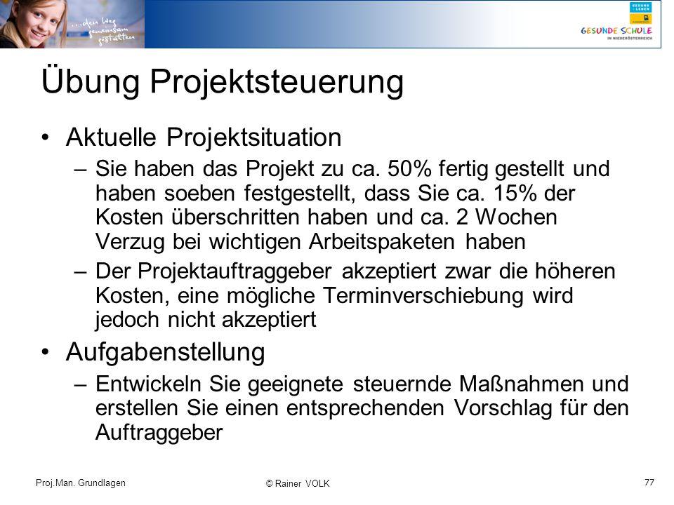 Übung Projektsteuerung