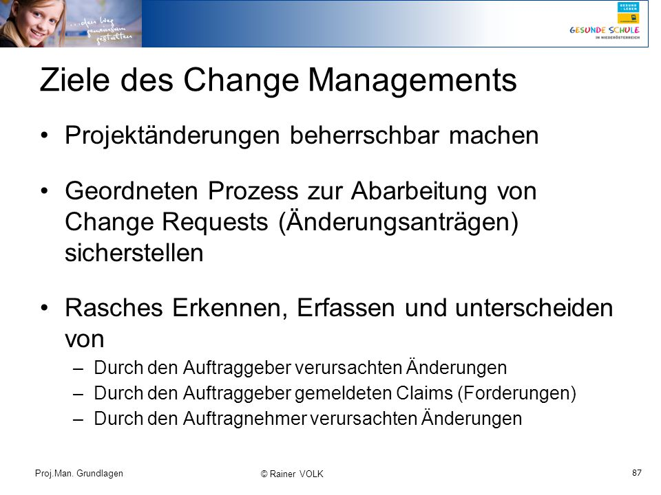 Ziele des Change Managements