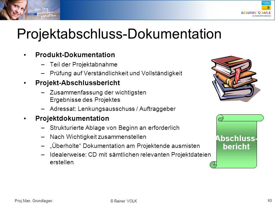 Projektabschluss-Dokumentation