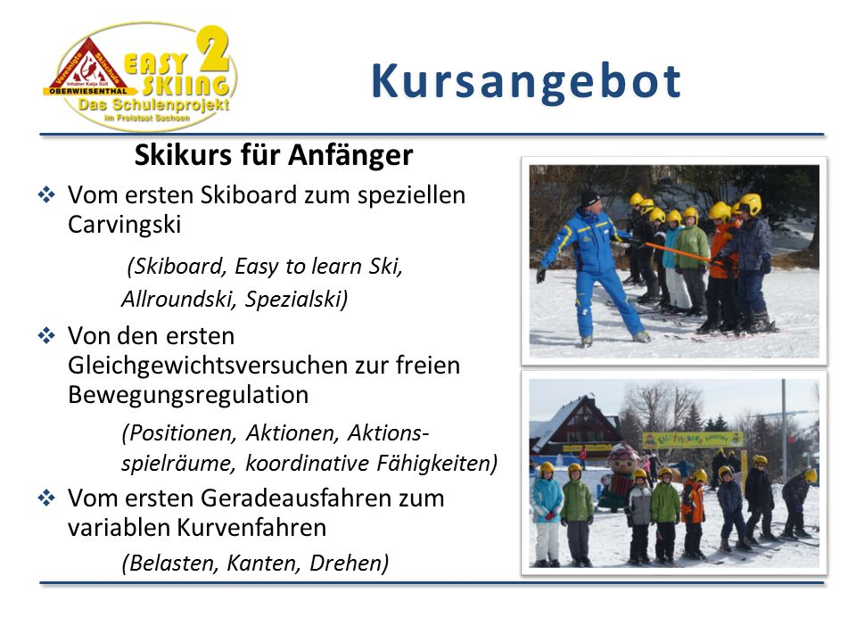 Kursangebot Skikurs für Anfänger