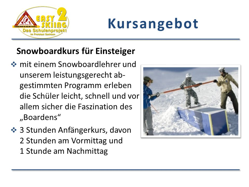 Snowboardkurs für Einsteiger