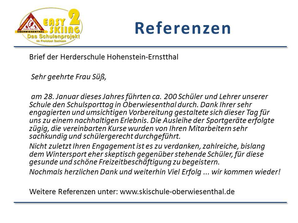 Referenzen Brief der Herderschule Hohenstein-Ernstthal
