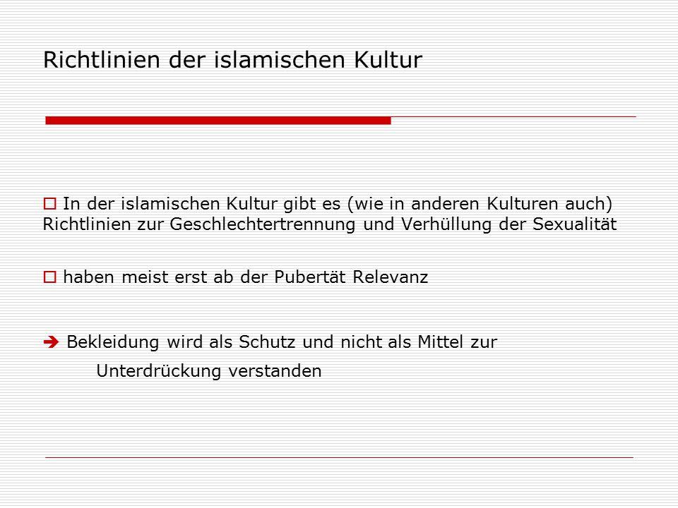 Richtlinien der islamischen Kultur