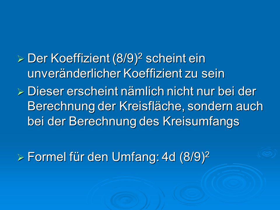 Der Koeffizient (8/9)2 scheint ein unveränderlicher Koeffizient zu sein