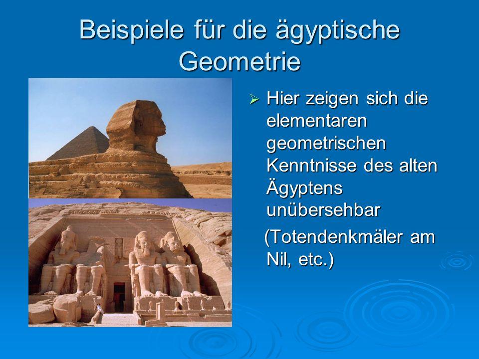 Beispiele für die ägyptische Geometrie