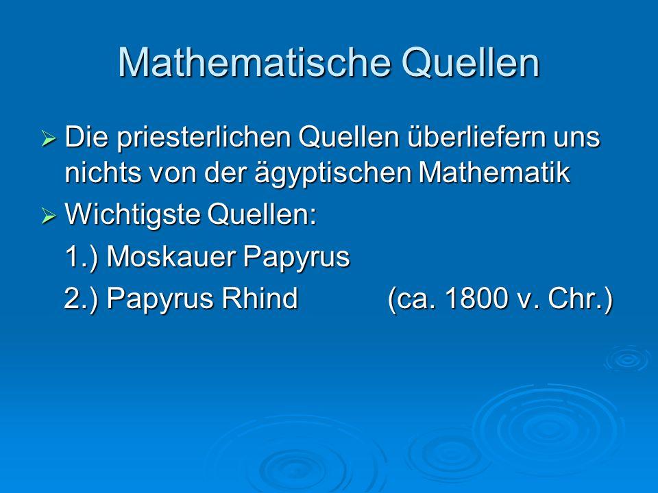 Mathematische Quellen