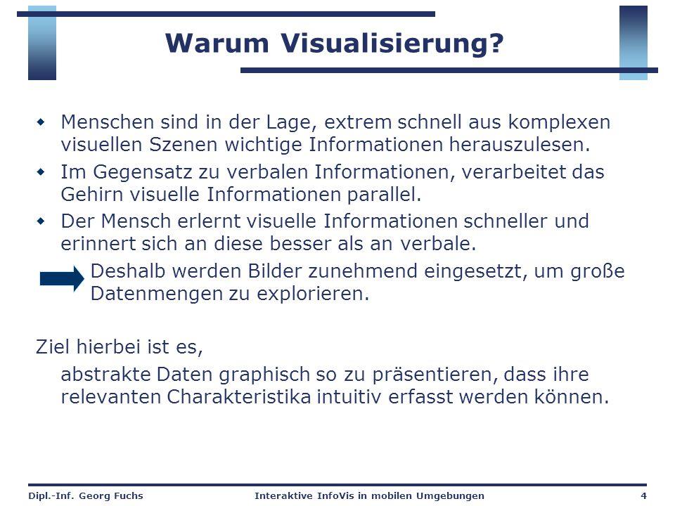 Warum Visualisierung Menschen sind in der Lage, extrem schnell aus komplexen visuellen Szenen wichtige Informationen herauszulesen.