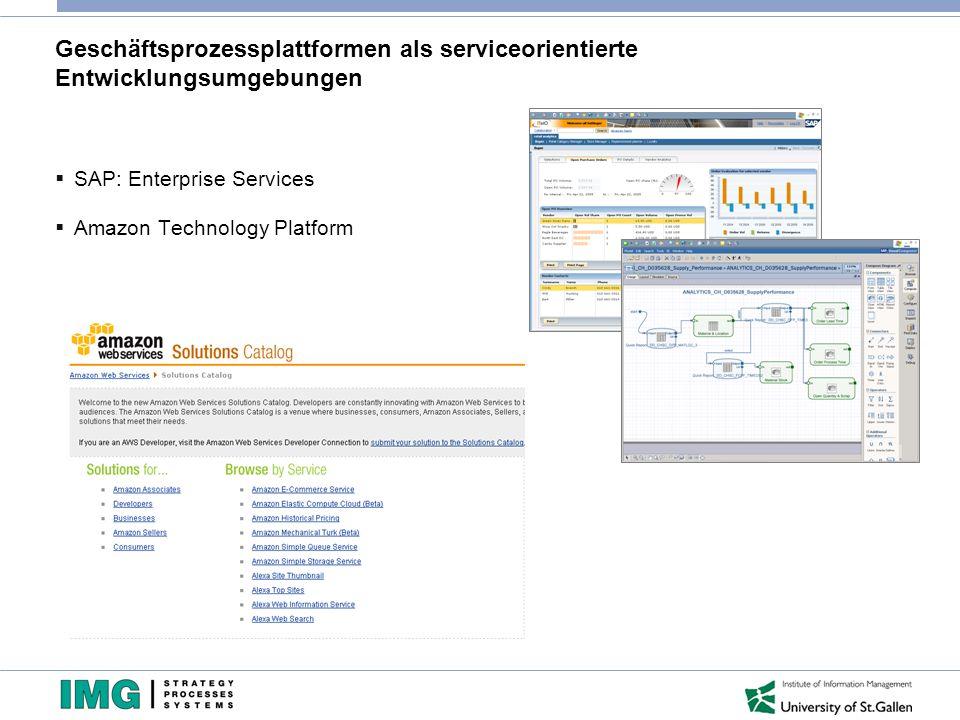 Geschäftsprozessplattformen als serviceorientierte Entwicklungsumgebungen