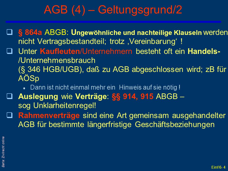 AGB (4) – Geltungsgrund/2