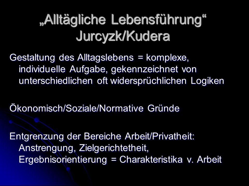 """""""Alltägliche Lebensführung Jurcyzk/Kudera"""