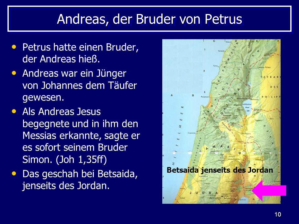 Andreas, der Bruder von Petrus