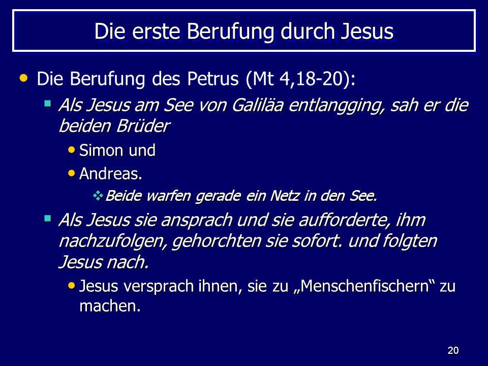 Die erste Berufung durch Jesus