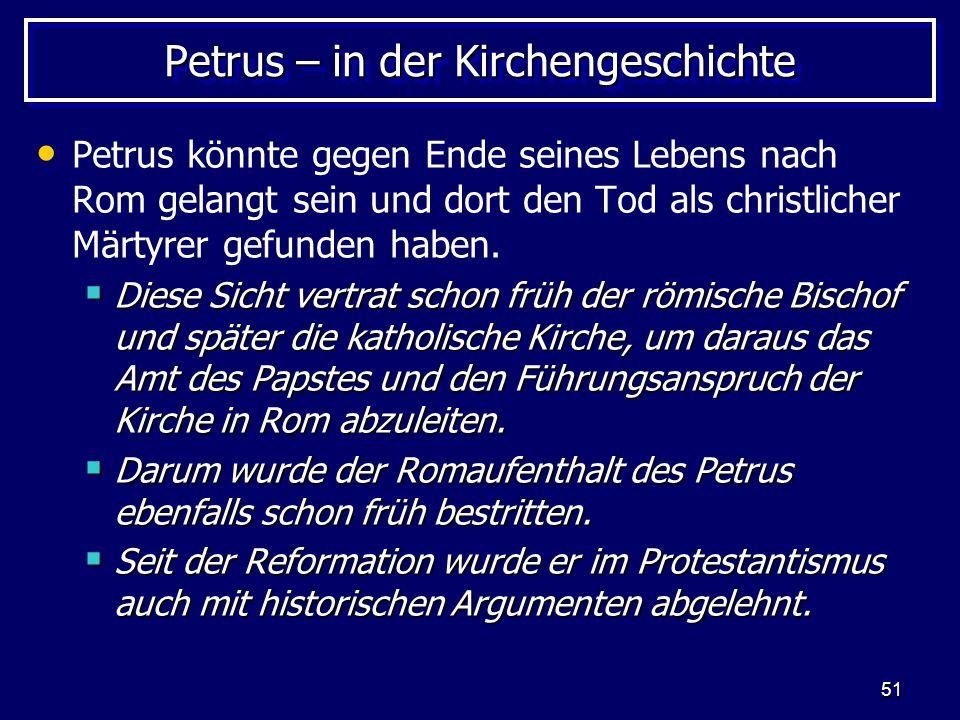 Petrus – in der Kirchengeschichte