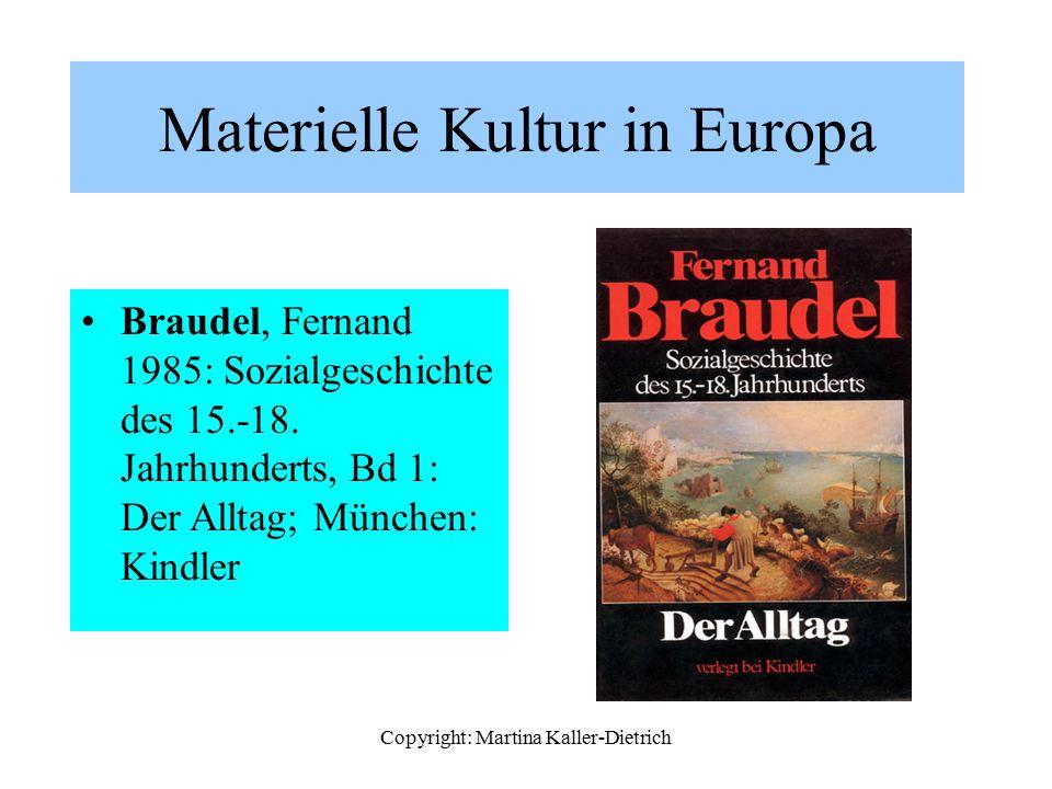 Materielle Kultur in Europa